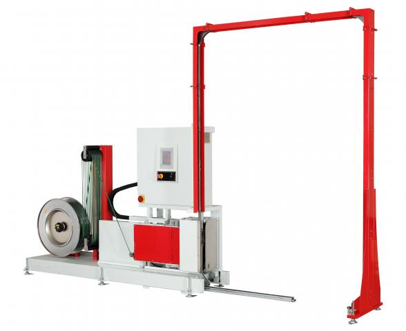 Стреппинг машина для вертикальной обвязки паллет