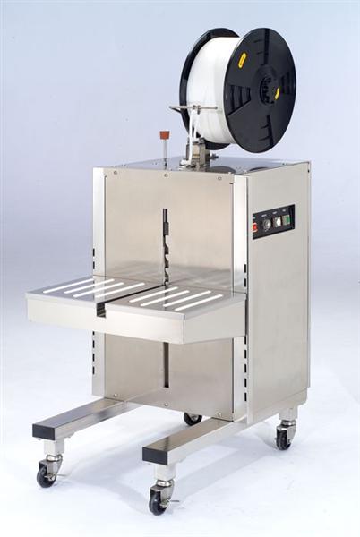 полуавтоматическая стреппинг машина для обвязки влажных продуктов